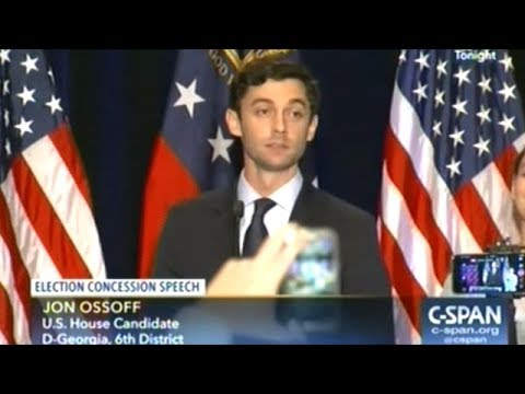 Jon Ossoff Georgia Concession Speech In Most Expensive House Of Representatives Election EVER!