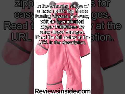 Columbia Baby Tiny Bear II Bunting, Camellia Rose, 3-6 Months review