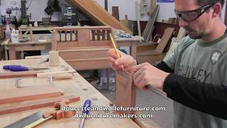 Custom End Table Building Process Handmade By Doucette And Wolfe Furniture Makers