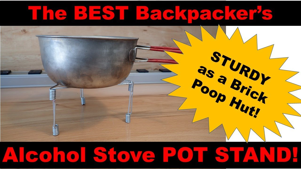 THE BEST Backpacker's Alcohol Stove Pot Stand - YouTube