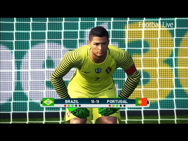 PES 2017 | goalkeeper NEYMAR vs goalkeeper C.RONALDO | Penalty Shootout | Brazil vs Portugal