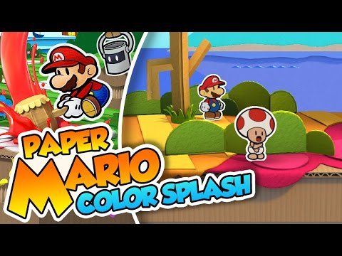 Toad, se te ven las vergüenzas - #03 - Paper Mario Color Splash (Wii U) en Español