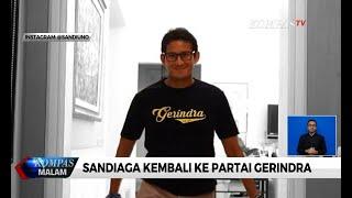 Sandiaga Uno Kembali ke Partai Gerindra, Sekjen: Bukan Untuk Jadi Menteri
