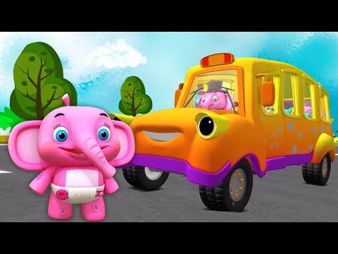 roda di bus | Lagu Anak | kartun anak | taman kanak-kanak | Little Treehouse | The Wheels On The Bus