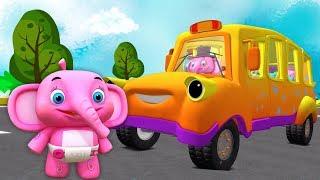 roda di bus | Lagu Anak | kartun anak | taman kanak-kanak | Little Treehouse | The Wheels On The Bus
