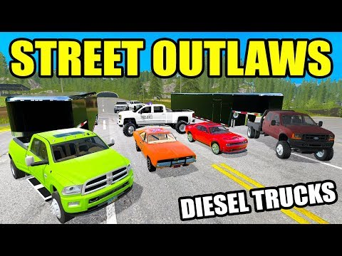 FARMING SIMULATOR 2017 | DIESEL STREET RACING & RUNNING FROM POLICE & NEW GENERAL LEE!