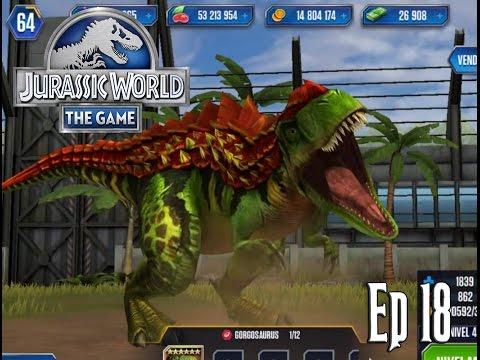 GORGOSAURUS LEVEL 40!!! MAX LEVEL GORGOSAURUS!!! // Jurassic World: El Juego #18 - En Español HD