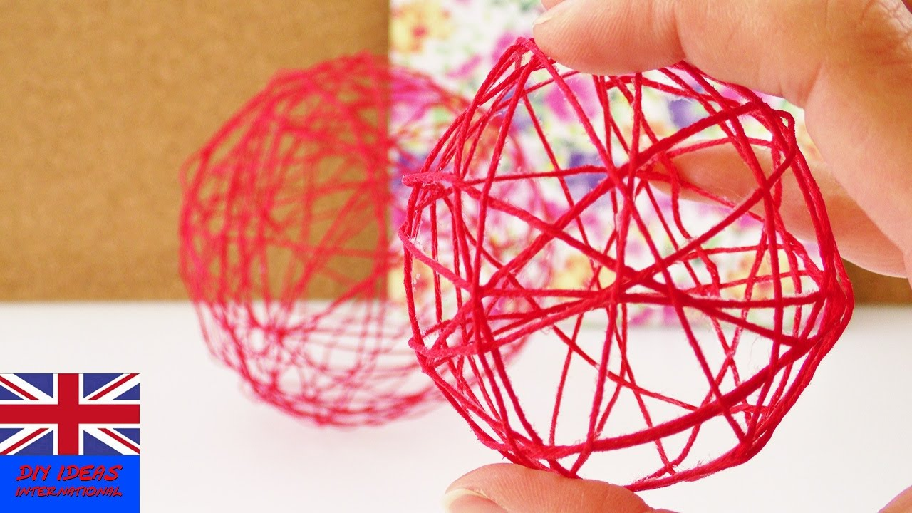 Make your own string ball using a balloon decorate your room for make your own string ball using a balloon decorate your room for spring youtube solutioingenieria Images