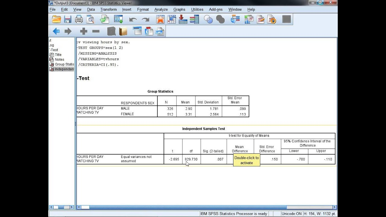 Good Independent Samples T  Test In SPSS 22 And Calculating And Interpreting  Cohenu0027s D
