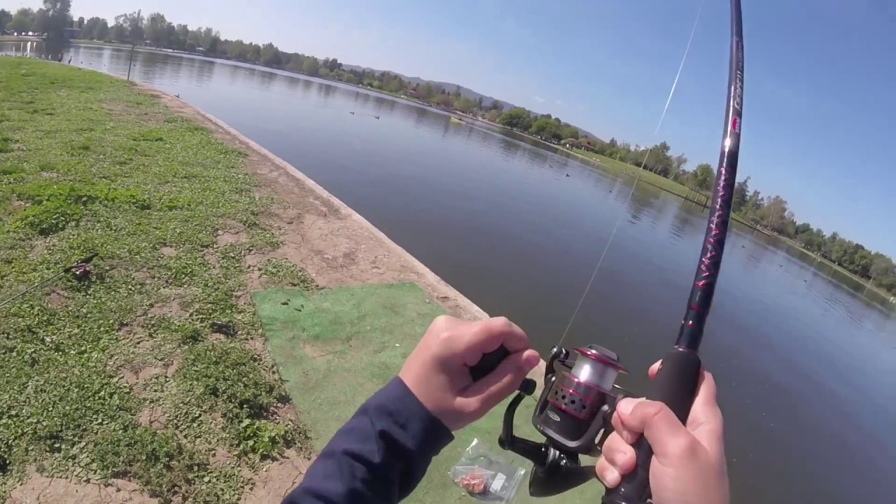 Armen fishing balboa lake youtube for Balboa lake fishing