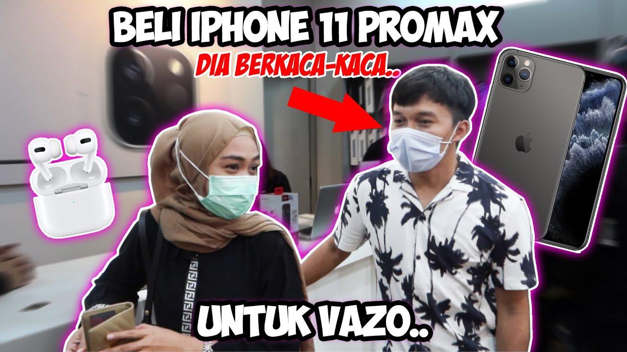 BELI iPhone 11 ProMax Khusus Untuk Vazo. Semuanya Belanja!! Dia Berkaca-Kaca 🥺