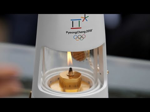2018 Olympic flame arrives in South Korea with 100 days to go