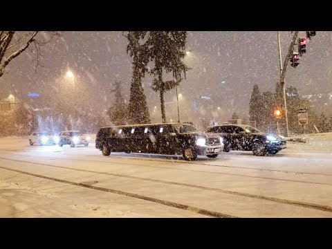 Seattle Snow 2019 Bellevue Blizzard Rare Winter Storm Cripples Washington Whiteout Conditions 4K UHD