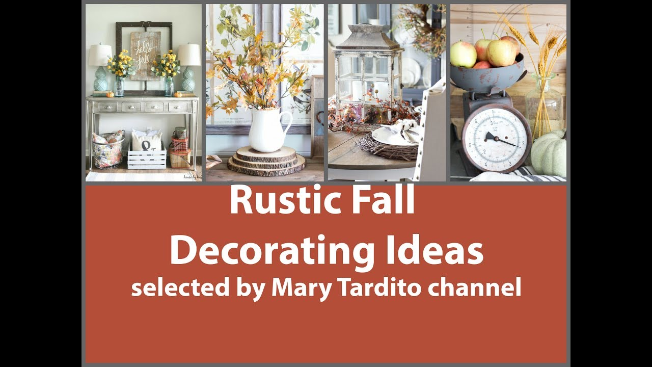 Rustic Fall Decorating Ideas