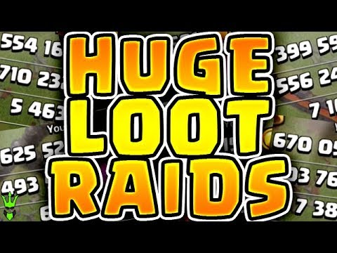 HUGE LOOT RAIDS! OVER 1 MIL RESOURCES EACH RAID! - Road to Max TH11 - Clash of Clans