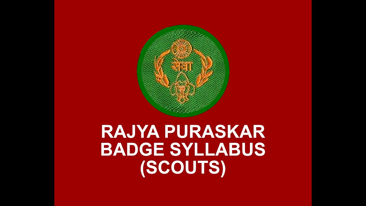 rajya puraskar badge syllabus scouts youtube rh youtube com Cooking Guides and Scouts India Bharat Scouts And Guides