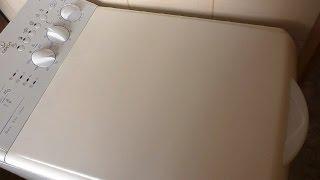 видео как снять крышку со стиральной машины индезит
