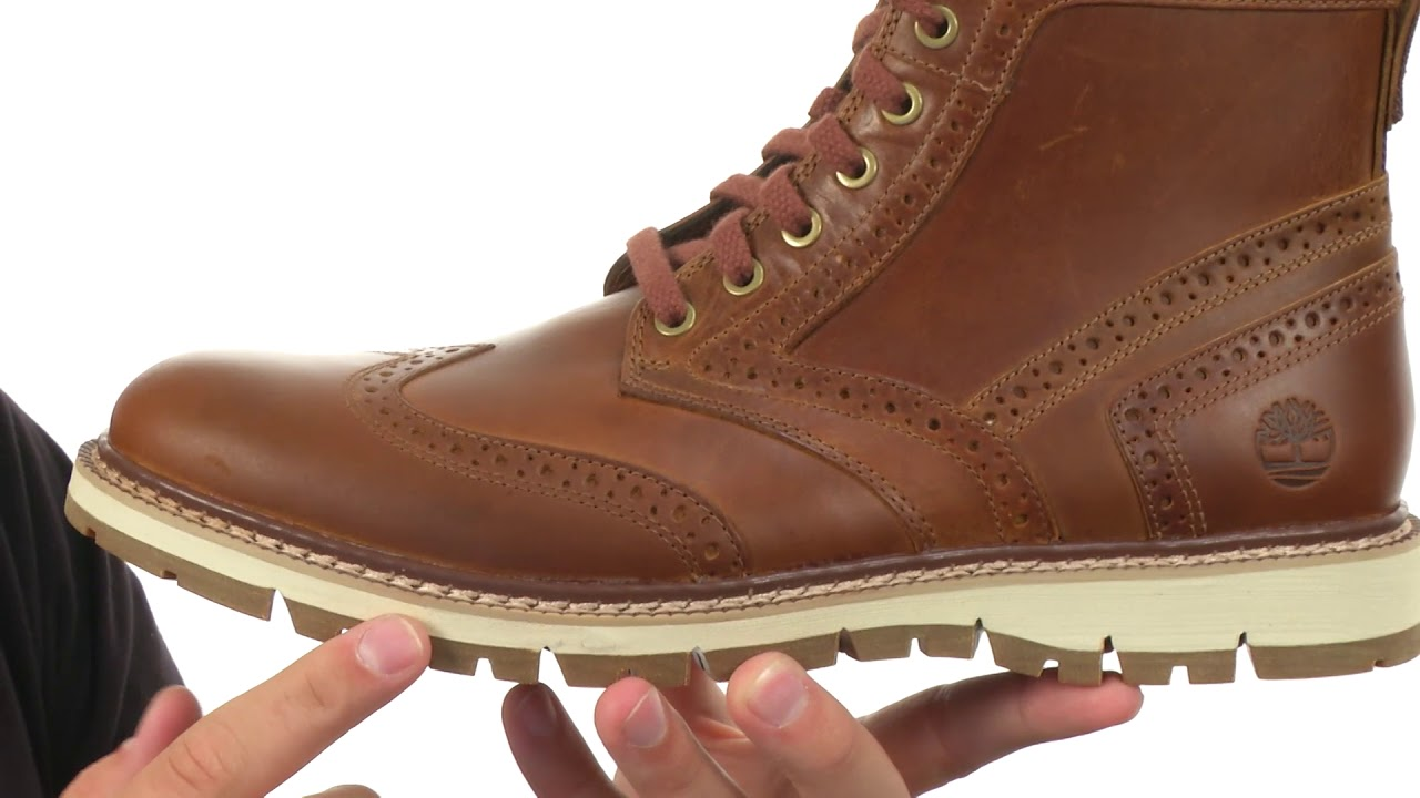 e44396c88051 Timberland Britton Hill Wing Tip Boot SKU  8906895 - YouTube