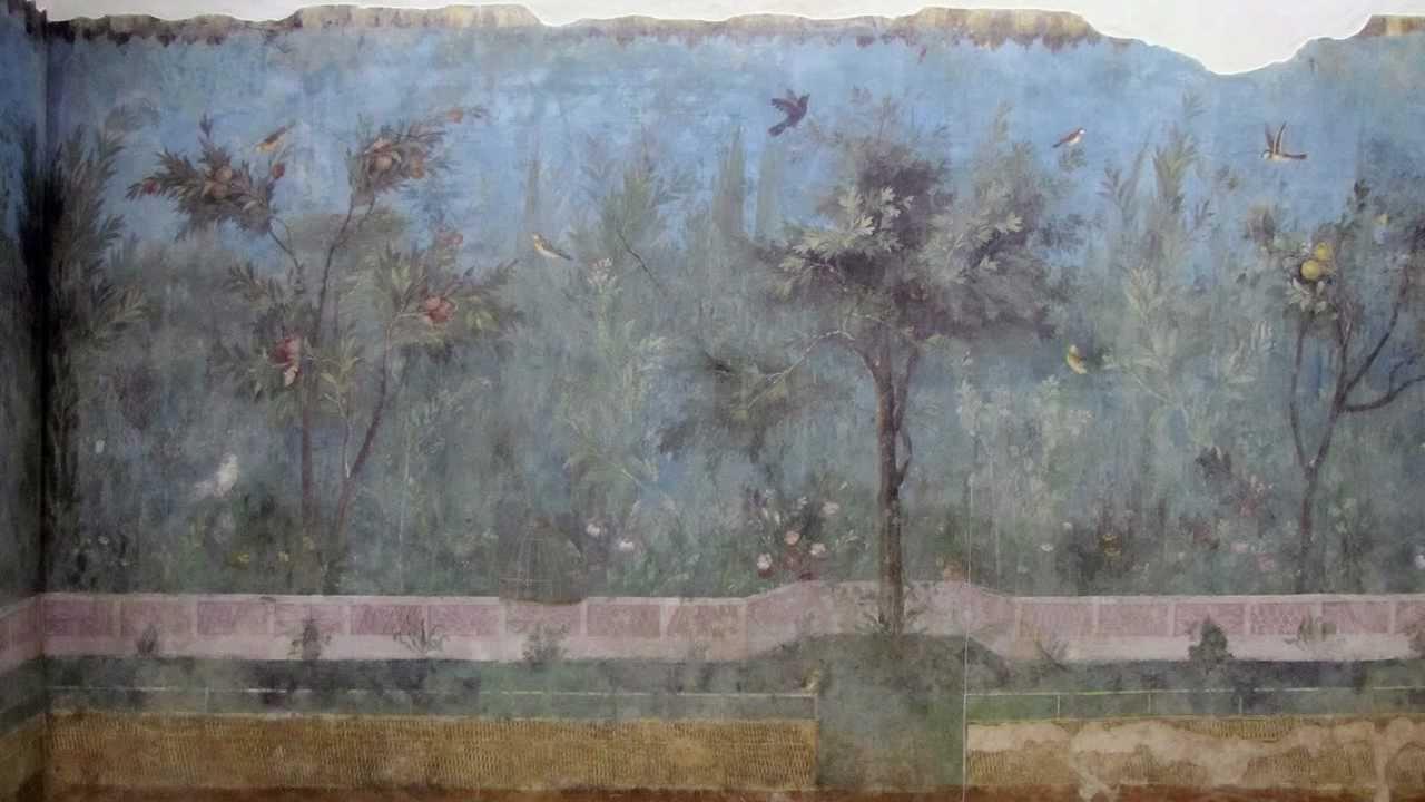 Empire Painted Garden Villa Of Livia Youtube