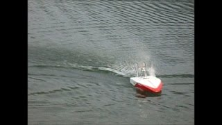 Rc Airboat Python One Test 1 Dk Powerboats D. Krauze