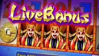 LIVE BONUS - CHOY SUN DOA !!! 5c Aristocrat Video Slots