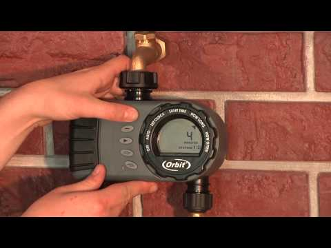 How To Program An Orbit 2 Outlet Hose Faucet Timer 24713