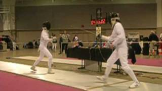 Andrea Gory Fencing Epee DE Bout at 2009 Junior Olympics