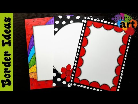 Britto Border Designs On Paper Border Designs Project Work Designs Borders For Projects Youtube