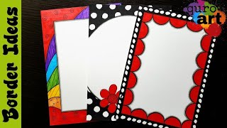 Britto | Border designs on paper | border designs | project work designs | borders for projects