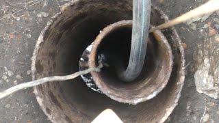 Скважина на воду 2 года простоя. Прочистка промывка.