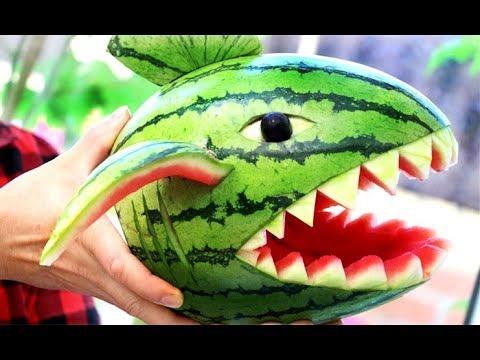 Creative Food Ideas   Fun Food For Kids   Watermelon Carving