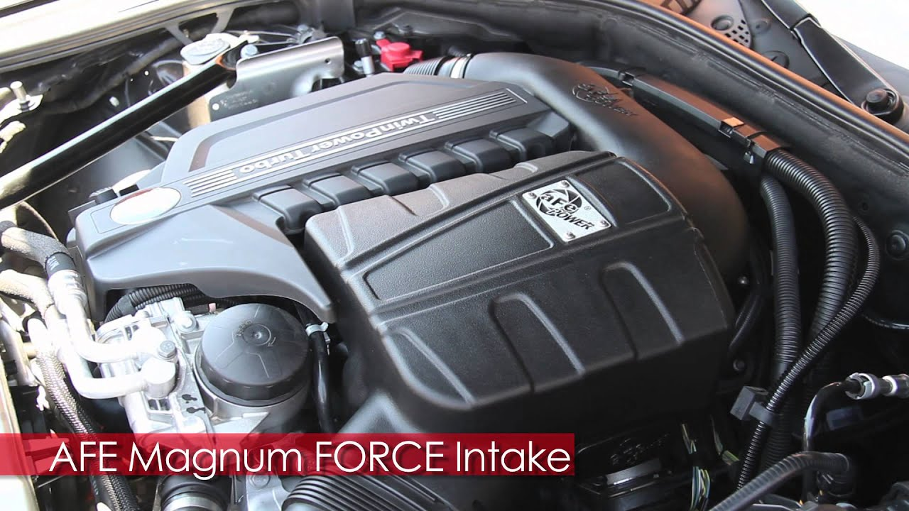 2014 bmw 535i f10 gains 32whp with new afe magnum force intake youtube