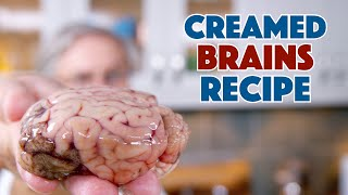 Brains! We Cooked & Ate Creamed Brains!! || Glen & Friends Cooking