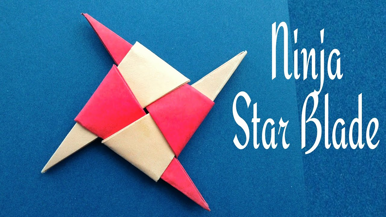Ninja Star Blade Shuriken - DIY Origami Tutorial by Paper ... - photo#21