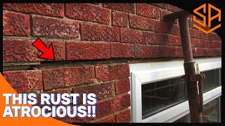 RUSTED ANGLE IRON REPLACEMENTS WITH NEW GALVANISED LINTEL...PART 1