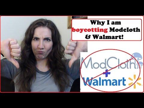 Rant - Boycotting ModCloth...& Walmart?!