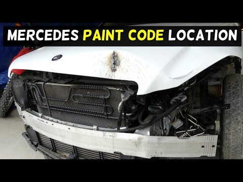 WHERE IS THE PAINT CODE ON MERCEDES W204 C250 C300 C350 C200