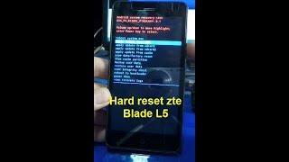 Hard Reset ZTE Blade L5