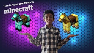 How to Tame/Ride aฑd apply Armor to your horse in minecraft PE   By Ahmad Hameed   Tamil Fun Time