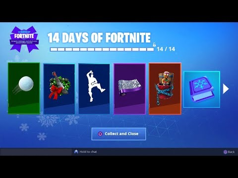 *NEW* ALL 14 DAYS OF FORTNITE GIFTS UNLOCKED! (Fortnite: Free Daily Rewards) thumbnail