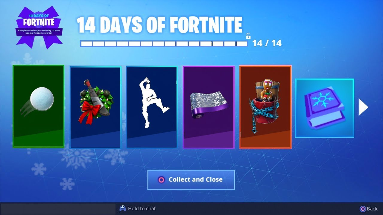 Fortnite 14 Days Of Christmas Event Full List Of Rewards And Prizes