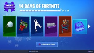 *NEW* ALL 14 DAYS OF FORTNITE GIFTS UNLOCKED! (Fortnite: Free Daily Rewards)