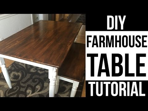 DIY FARMHOUSE TABLE |HOW TO REFINISH DINING TABLE| Page Danielle