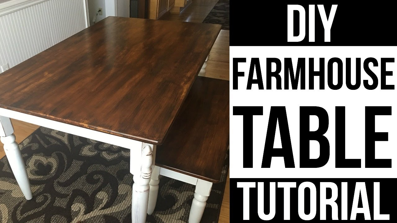 Farm House Kitchen Table Ashley Furniture Diy Farmhouse | How To Refinish Dining Table| Page ...
