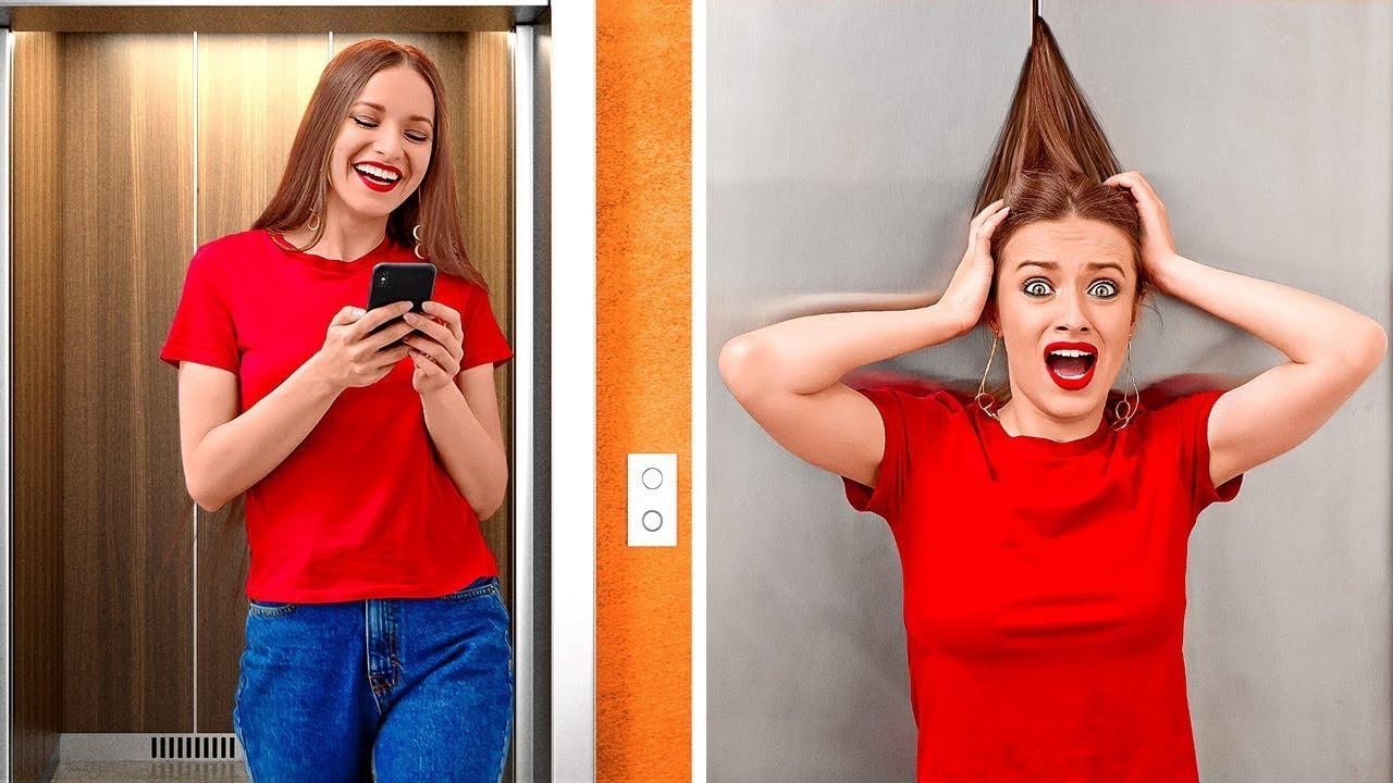 مشاكل مضحكة مع الشعر الطويل، والقصير، والمجعد || مواقف وإخفاقات مألوفة