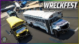 Figure 8 School Bus Race! | Wreckfest