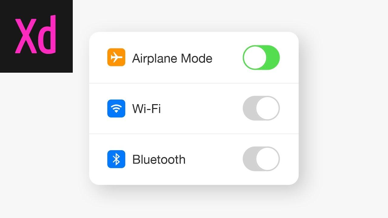 Design a Working Switch UI Adobe XD Tutorial