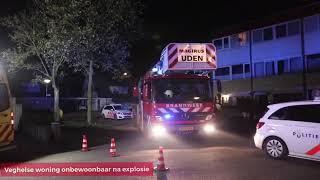 Explosie in woning aan Dongelaan in Veghel