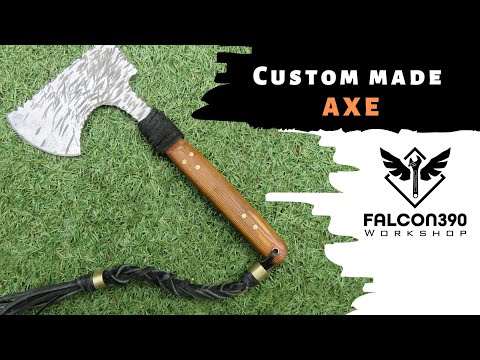 Axe from an old blade. DIY project.