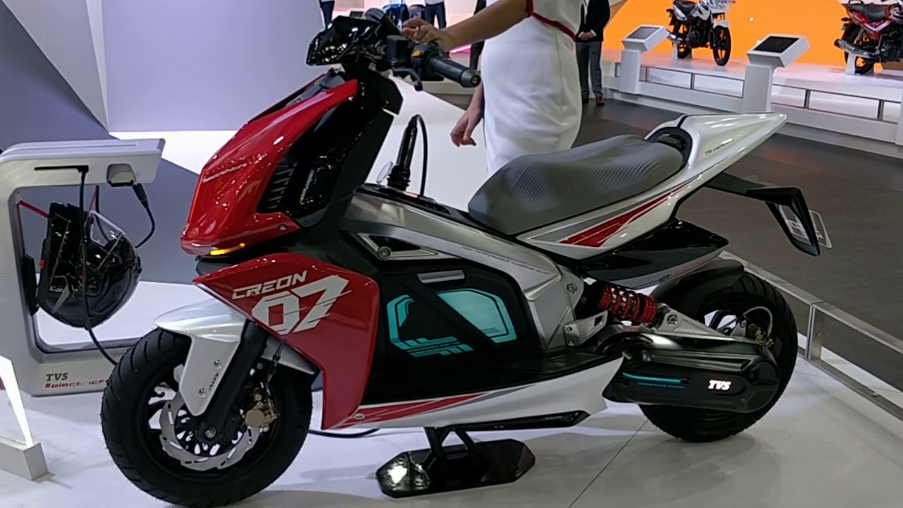 Tvs Creon Electric Scooter Full Details Auto Expo 2018